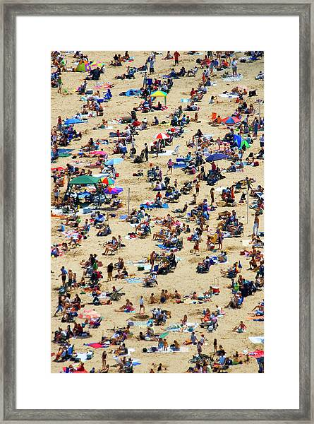 Crowd Framed Print by By Ken Ilio