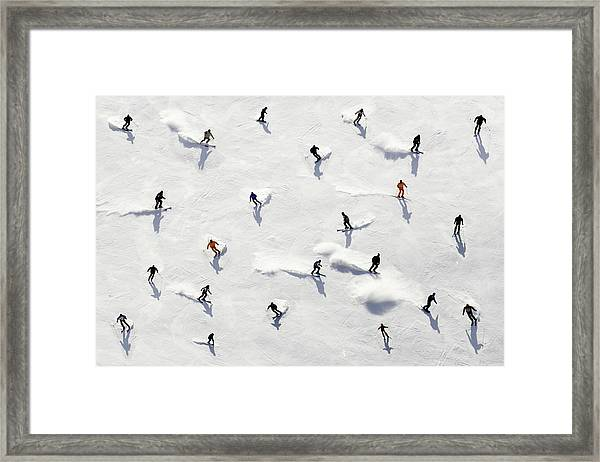 Crowded Holiday Framed Print by Mistikas