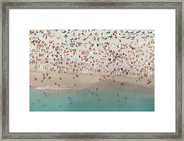 Crowded View, Aerial View Framed Print by Baron Wolman