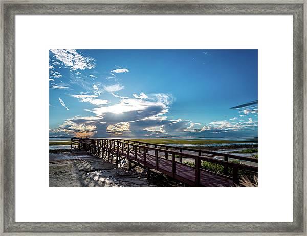 Crystal Beach Pier Framed Print
