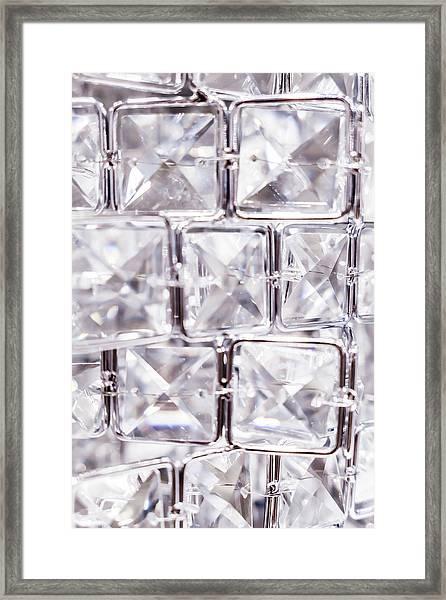 Crystal Bling V Framed Print