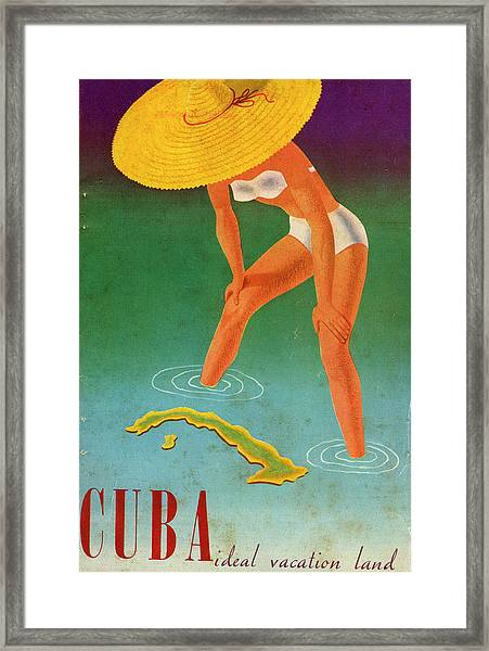 Cuba, Ideal Vacation Land Framed Print