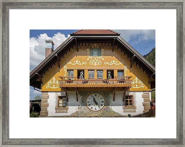 Cuckoo Clock In Ravenna Germany Framed Print
