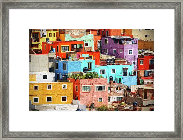 Cultural Colonial Cities Of Mexico Framed Print