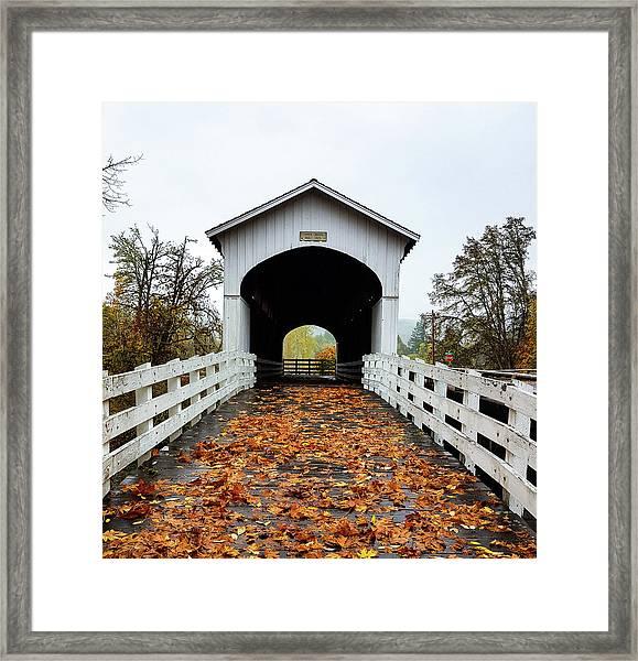 Curin Covered Bridge 1 Framed Print