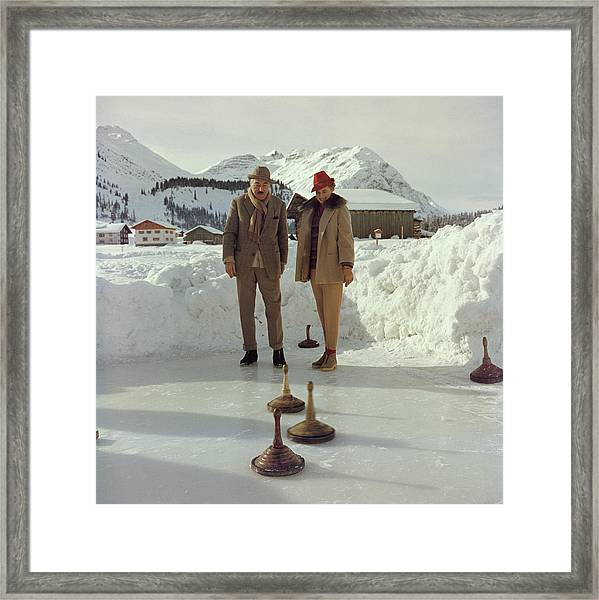 Curling Framed Print