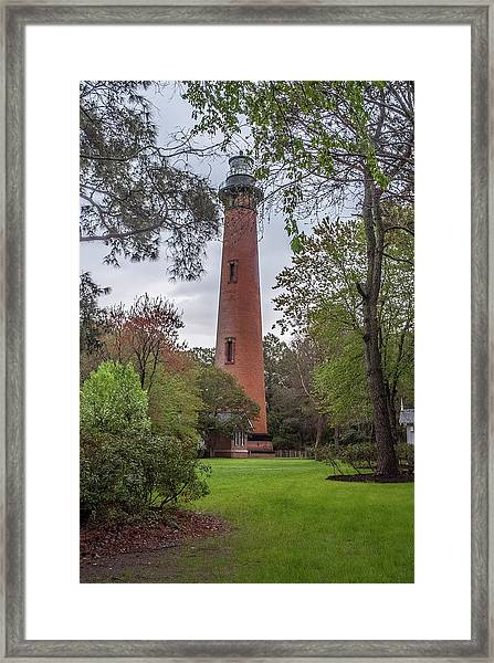Currituck Beach Light Framed Print