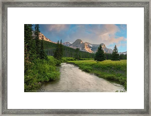 Cut Bank Creek At Sunset Framed Print
