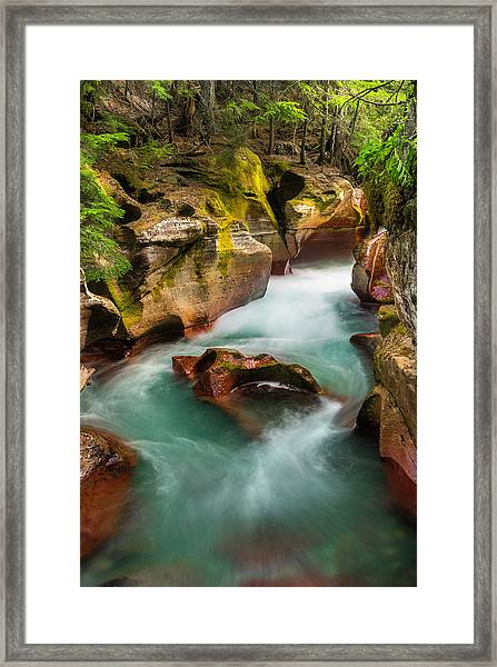 Cut Through The Heart Framed Print by T-S Fine Art Landscape Photography
