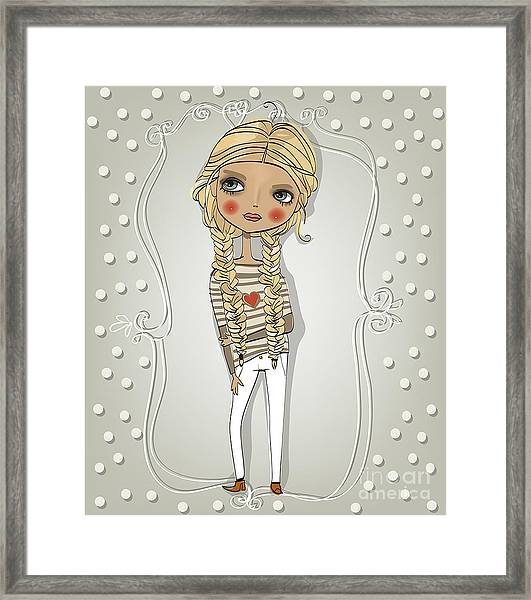 Cute Blonde Girl Framed Print