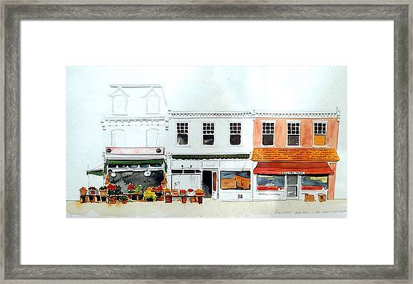 Cutrona's Market On King St. Framed Print