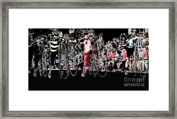 Cycling High  Framed Print by Steven Digman