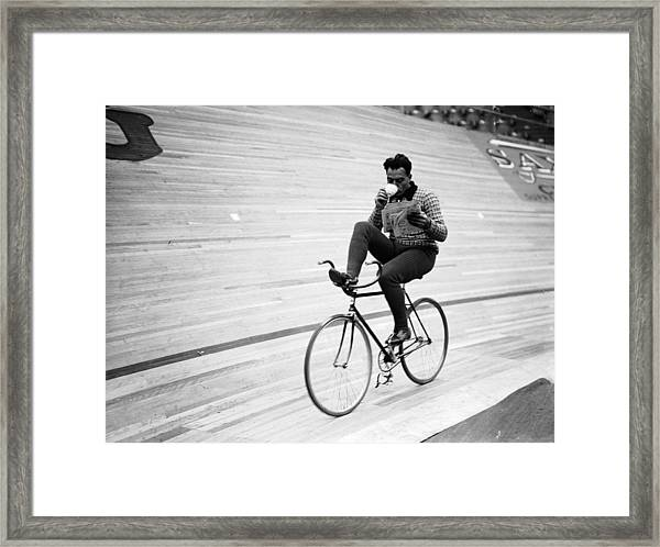 Cycling Marathon Framed Print