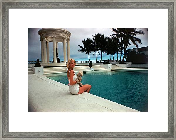 Cz By The Pool Framed Print