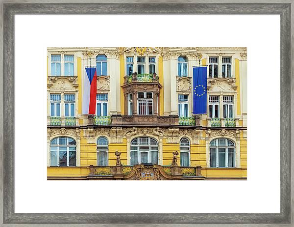 Czech Facade Framed Print by Andrew Soundarajan
