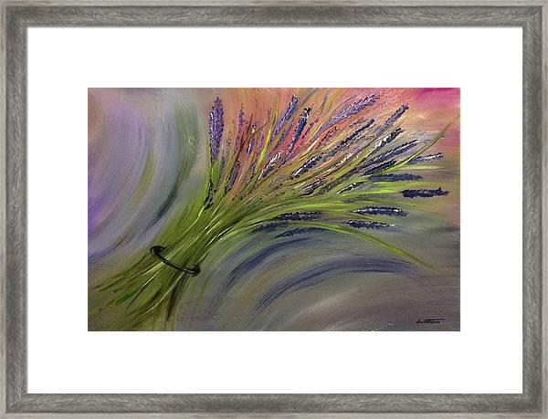 D077 - Lavender Bunch Framed Print