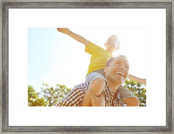 Dad Makes Me Feel Like I Can Fly Framed Print by Gradyreese
