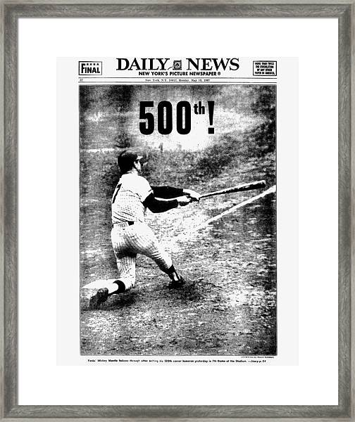 Daily News Back Page Dated May 15 Framed Print
