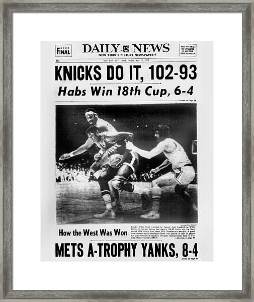 Daily News Back Page May 11, 1973 Framed Print