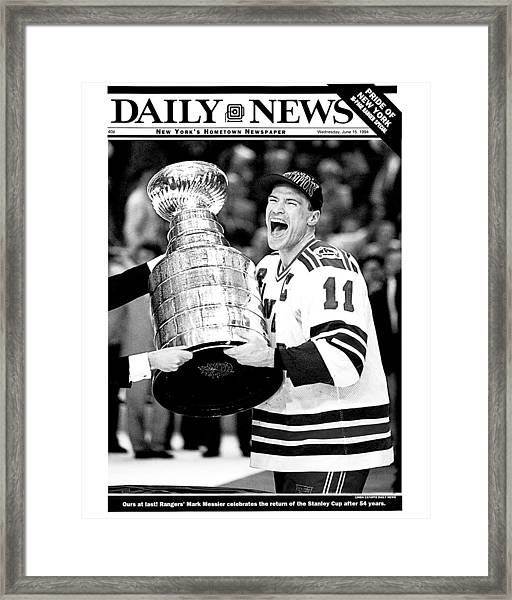 Daily News Front Page June 15, 1994 Framed Print