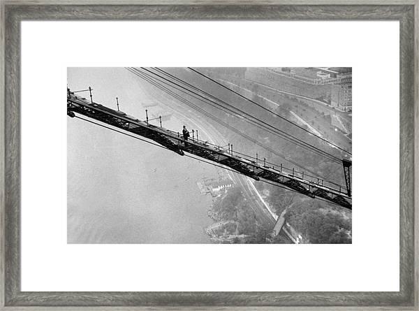 Daily News Photographer Harry Warnecke Framed Print