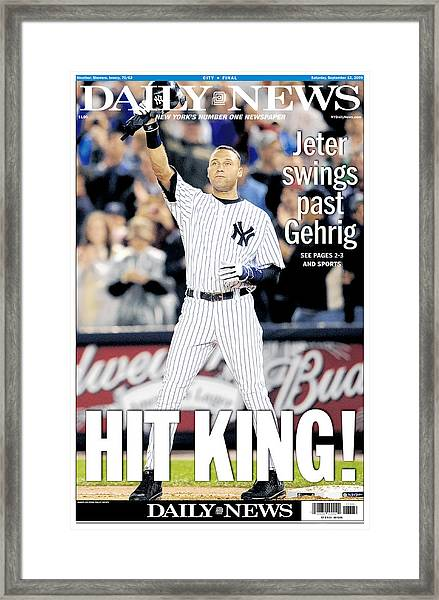 Daily News September 12, 2009, Hit Framed Print