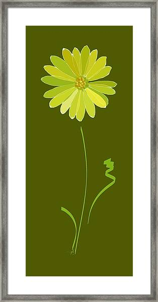 Framed Print featuring the digital art Daisy, Daisy by Gina Harrison