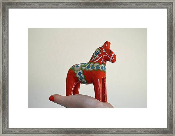 Dala Horse Framed Print