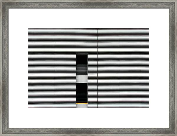 Dallas Parking Lot Framed Print
