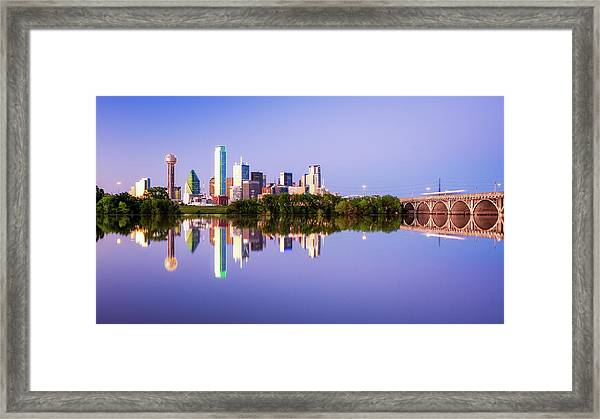 Dallas Texas Houston Street Bridge Framed Print