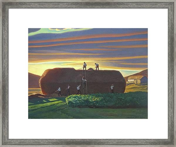 Dan Wards Stack Ireland Framed Print by Rockwell Kent