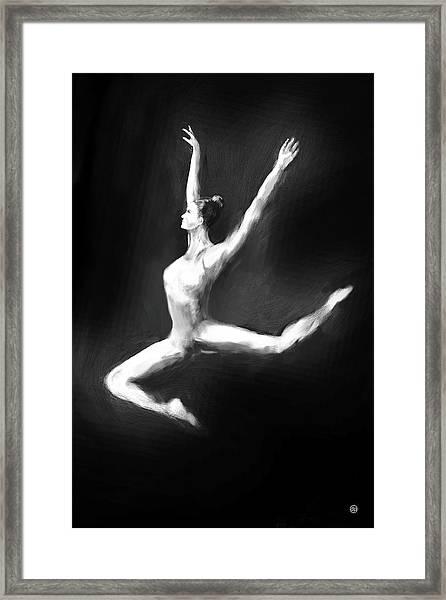 Dancer In Black And White Framed Print