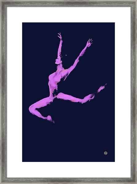 Dancer In The Dark Blue Framed Print