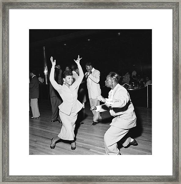 Dancing At The Savoy Ballroom Framed Print by Graphic House
