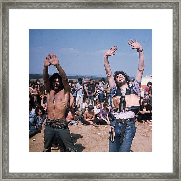 Dancing Hippies Framed Print