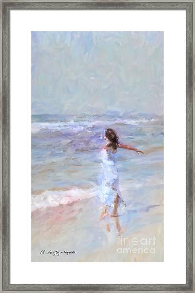 Dancing On The Sand Framed Print