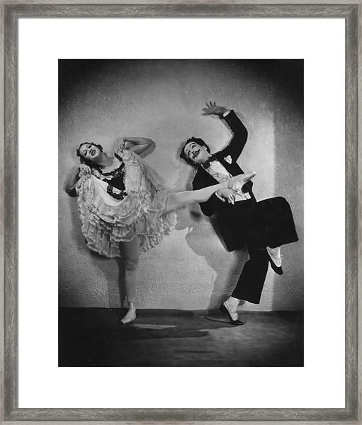 Danilova And Massine Framed Print by Sasha