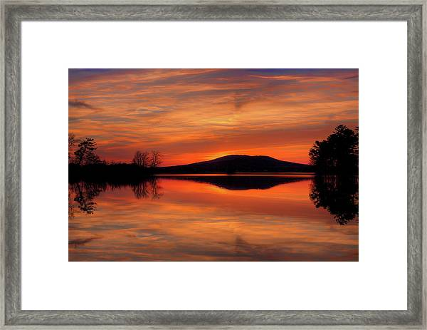 Dan's Sunset Framed Print