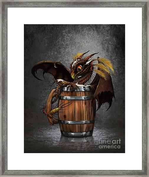 Dark Beer Dragon Framed Print