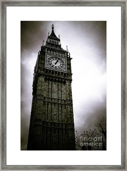 Dark Big Ben Framed Print