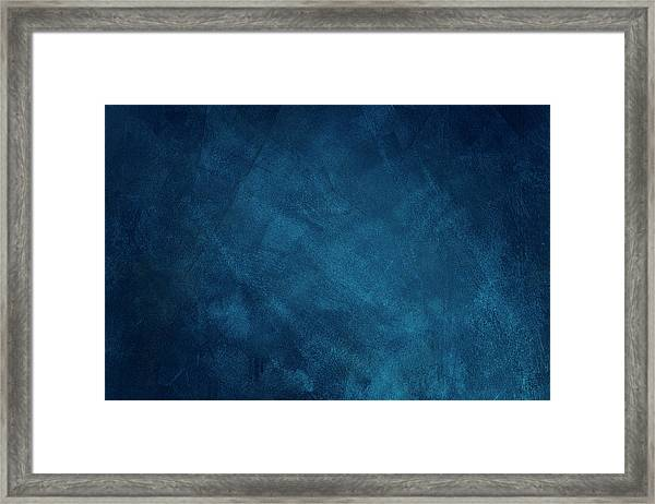 Dark Blue Grunge Background Framed Print by Caracterdesign