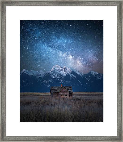 Dark Skies Last Frontier / Mission Mountains, Montana  Framed Print