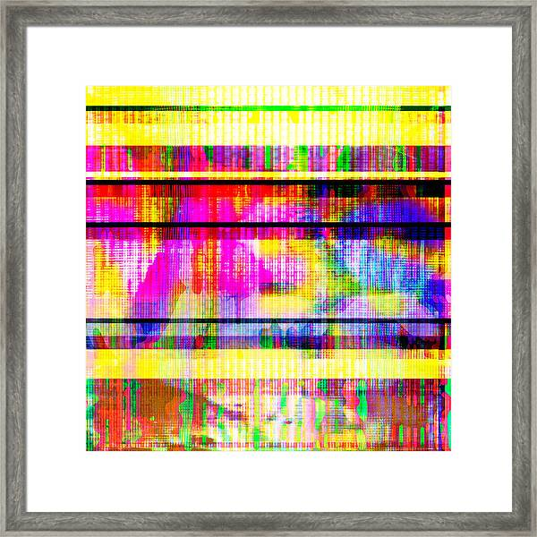 Databending #2 Hidden Messages Framed Print