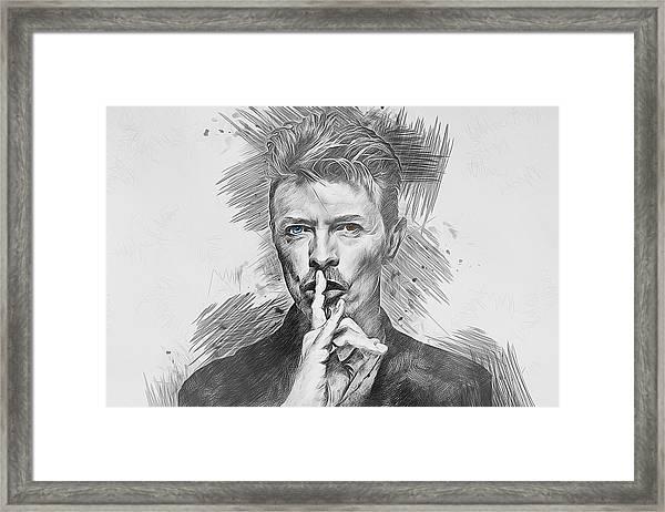 David Bowie. Framed Print