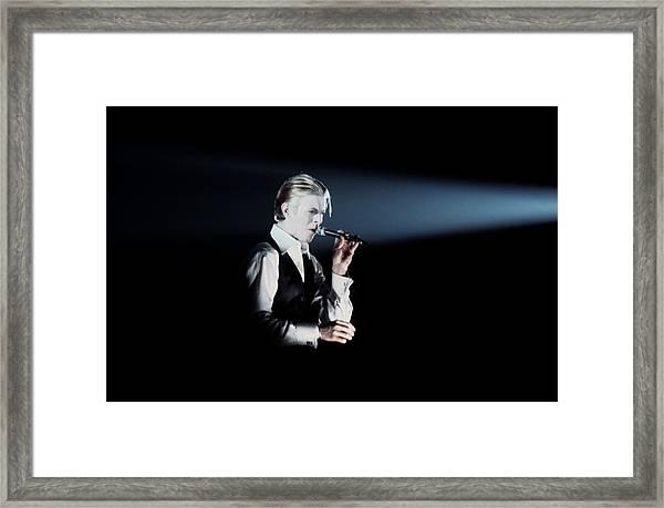 David Bowie In Detroit Framed Print