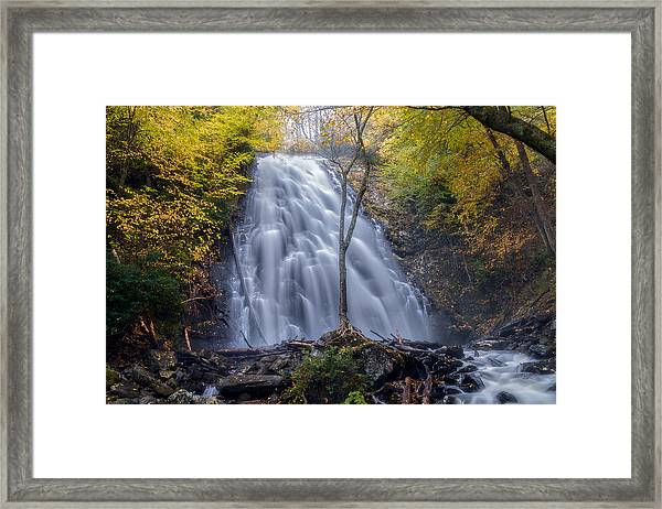 Dawn At Crabtree Falls Framed Print
