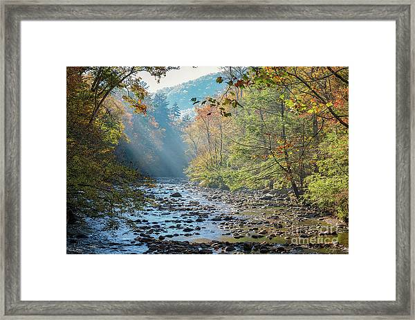 Dawn At Metcalf Bottoms Framed Print