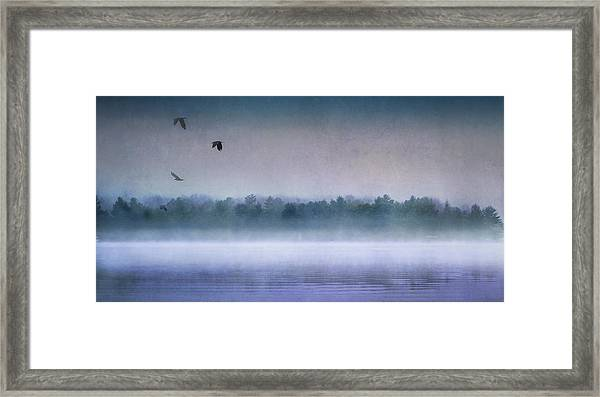 Dawn Of The Fog Framed Print