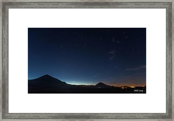 Dawn's Early Light Framed Print