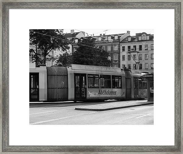 Day Tram Train Framed Print